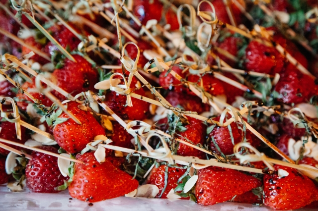 Strawberries with Balsamic Reduction and Basil