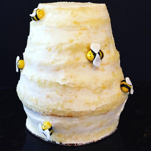 Disney, Winnie the Pooh, beehive, gum paste, bees, smash cake